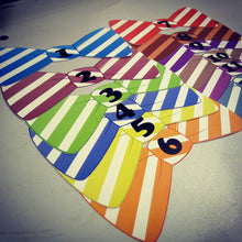 Monthly bowtie shaped baby stickers for onesie / romper / bodysuit