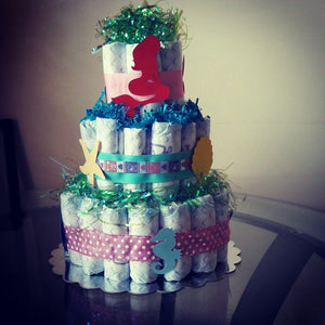 Mermaid Diaper Cake