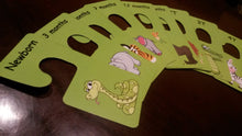 Baby clothes closet dividers. Safari animals themed lion, crocodile, zebra, hippo, snake, tiger