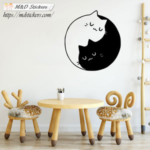 Wall Stickers Vinyl Decal Yingyangcats