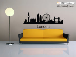 Biggest cities in the world series Wall Stickers Vinyl Decal London Great Britain United Kingdom
