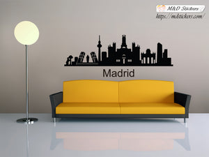 Biggest cities in the world series Wall Stickers Vinyl Decal Madrid Spain Europe
