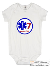EMS Ambulance Onesie monthly baby stickers