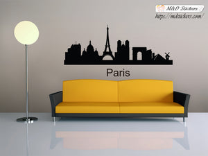 Biggest cities in the world series Wall Stickers Vinyl Decal Paris France Europe