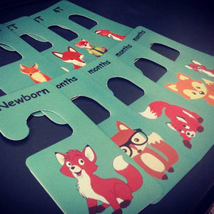 Baby clothes closet dividers. Newborn - 4T. Foxes themed