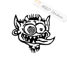 2x Crazy Demon Vinyl Decal Sticker Different colors & size for Cars/Bikes/Windows