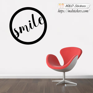 Wall Stickers Vinyl Decal Smile circle