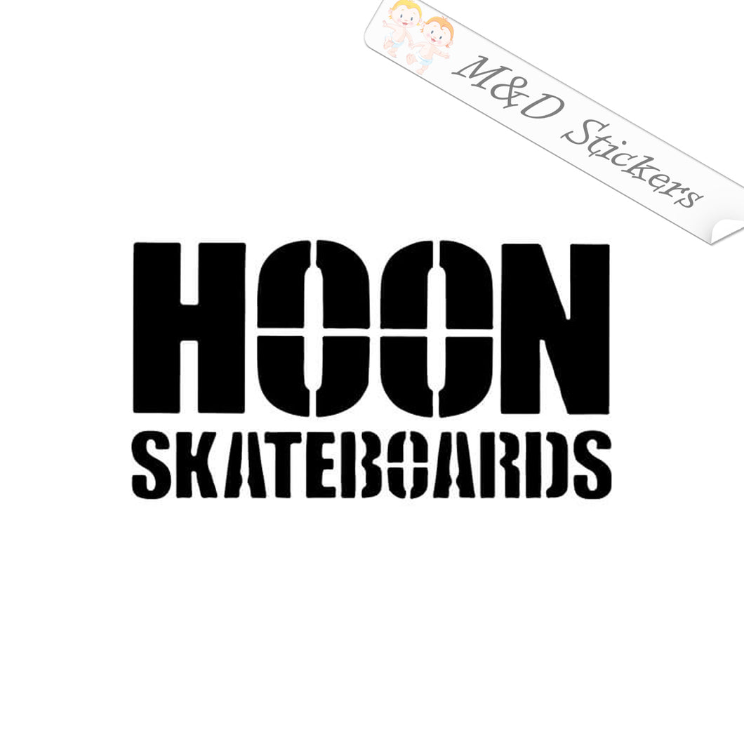 2x Hoon skateboards Logo Vinyl Decal Sticker Different colors & size for Cars/Bikes/Windows