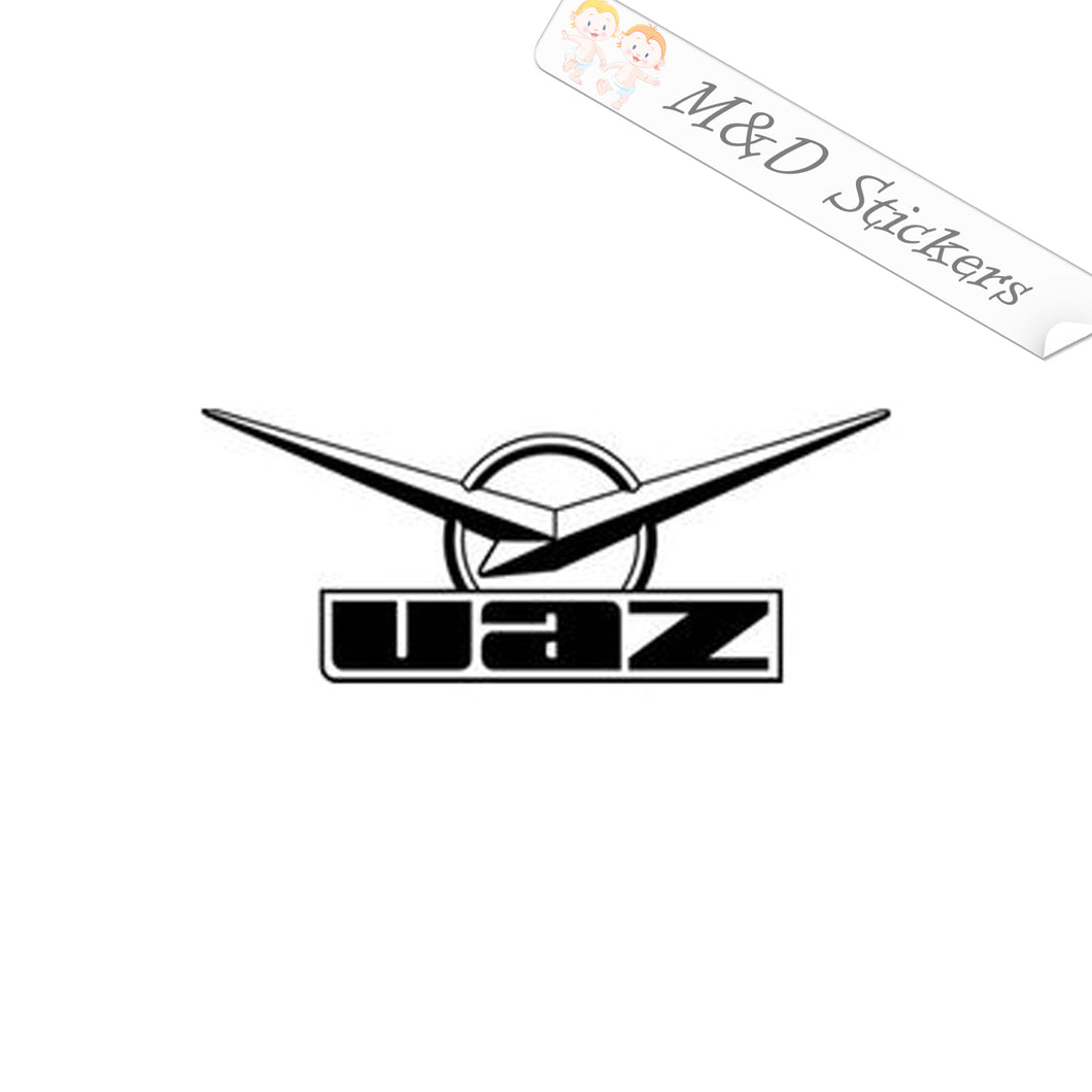 2x UAZ Russian car logo Vinyl Decal Sticker Different colors & size for Cars/Bikes/Windows