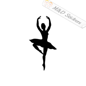 2x Ballerina Vinyl Decal Sticker Different colors & size for Cars/Bikes/Windows
