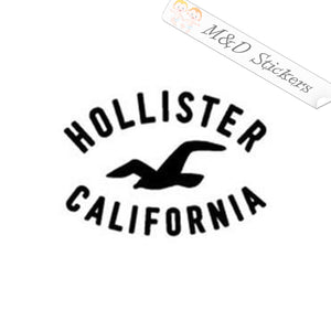 2x Hollister Logo Vinyl Decal Sticker Different colors & size for Cars/Bikes/Windows