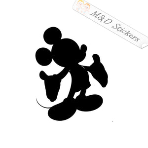 2x Mickey Mouse silhouette Vinyl Decal Sticker Different colors & size for Cars/Bikes/Windows