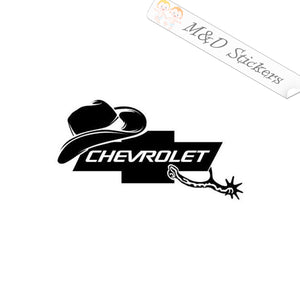 2x Cowboy hat Chevrolet Logo Vinyl Decal Sticker Different colors & size for Cars/Bikes/Windows