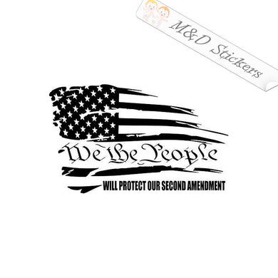 2x We the People Flag Vinyl Decal Sticker Different colors & size for Cars/Bikes/Windows