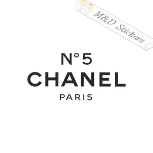 2x #5 Chanel Paris Logo Vinyl Decal Sticker Different colors & size for Cars/Bikes/Windows
