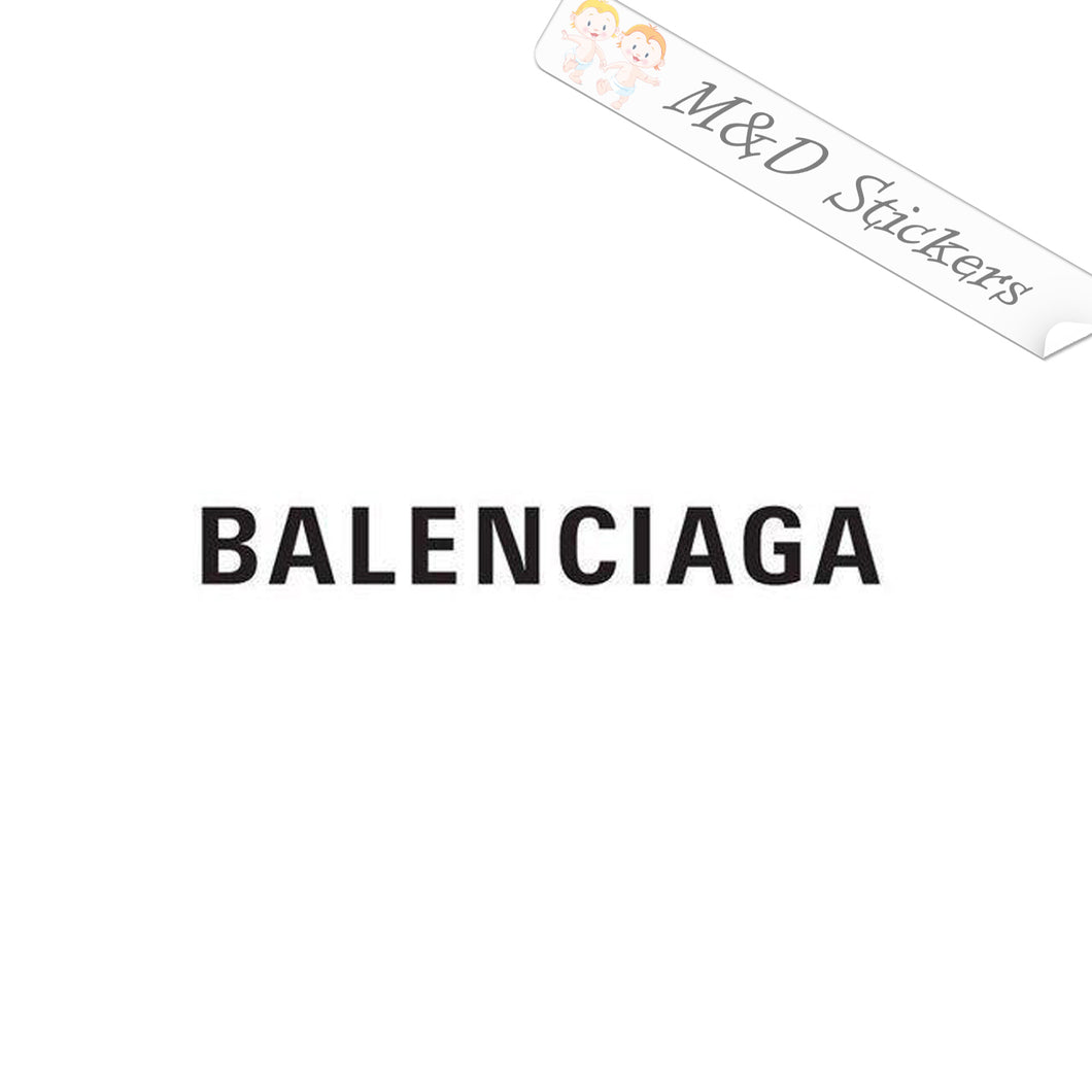 2x Balenciaga Logo Vinyl Decal Sticker Different colors & size for Cars/Bikes/Windows