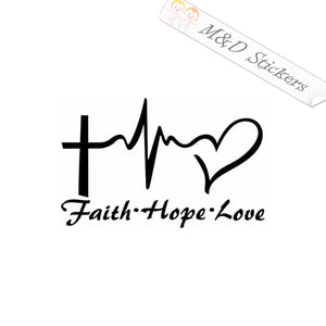 2x Faith Hope Love Vinyl Decal Sticker Different colors & size for Cars/Bikes/Windows