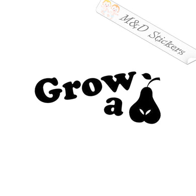 2x Grow a Pear Vinyl Decal Sticker Different colors & size for Cars/Bikes/Windows