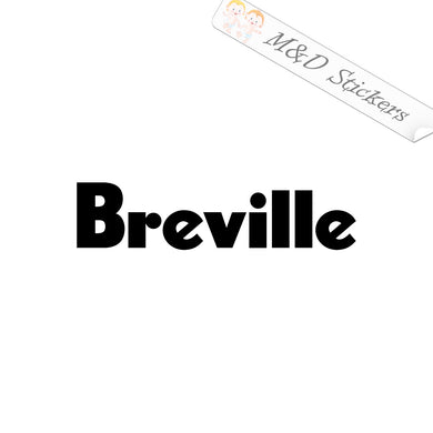 2x Breville coffee maker logo Vinyl Decal Sticker Different colors & size for Cars/Bikes/Windows