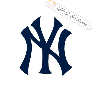2x New York Yankees Vinyl Decal Sticker Different colors & size for Cars/Bikes/Windows