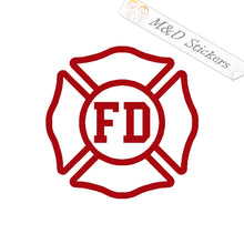 2x Fire Department Logo Vinyl Decal Sticker Different colors & size for Cars/Bikes/Windows
