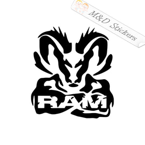 2x Dodge Muscle Tough Ram Vinyl Decal Sticker Different colors & size for Cars/Bikes/Windows