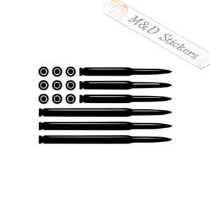 2x American US Flag bullets Vinyl Decal Sticker Different colors & size for Cars/Bikes/Windows