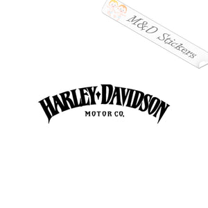 2x Harley-Davidson Logo Vinyl Decal Sticker Different colors & size for Cars/Bikes/Windows