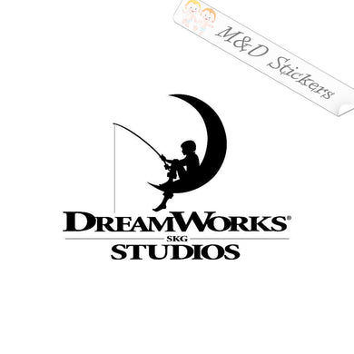 2x Dreamworks Movie Studio Vinyl Decal Sticker Different colors & size for Cars/Bikes/Windows