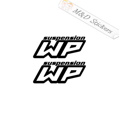 2x WP suspension Vinyl Decal Sticker Different colors & size for Cars/Bikes/Windows