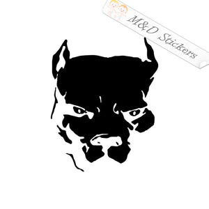 2x Pitbull Head Dog Vinyl Decal Sticker Different colors & size for Cars/Bikes/Windows