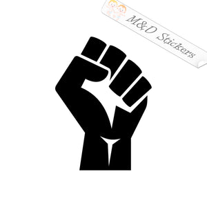 2x Raised Fist Black Lives matter Vinyl Decal Sticker Different colors & size for Cars/Bikes/Windows
