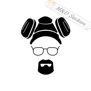 2x Heisenberg Breaking Bad Vinyl Decal Sticker Different colors & size for Cars/Bikes/Windows