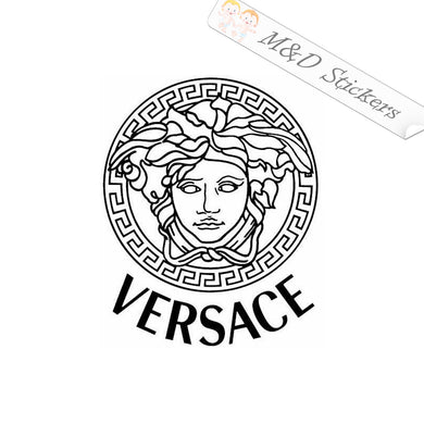 2x Versace Logo Vinyl Decal Sticker Different colors & size for Cars/Bikes/Windows