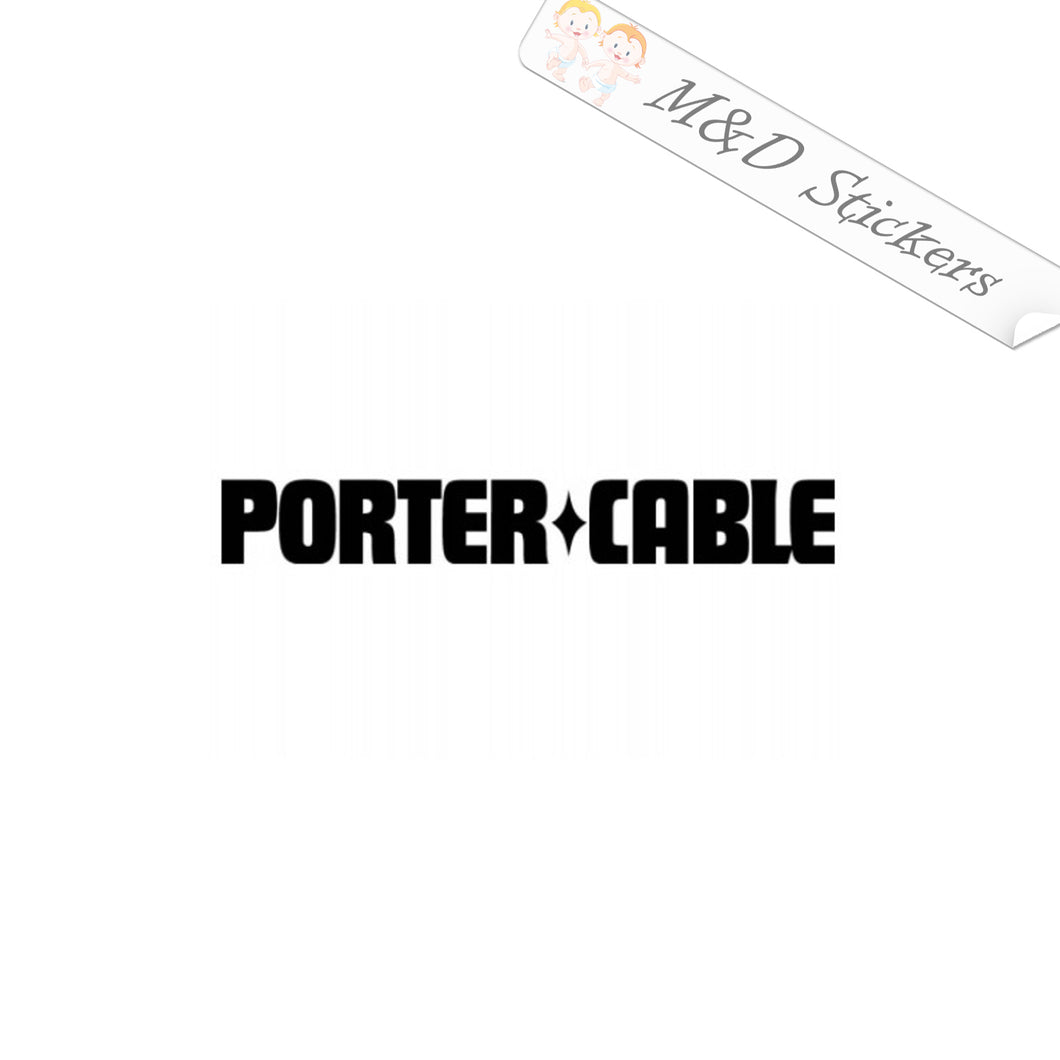 2x Porter Cable Tools Logo Vinyl Decal Sticker Different colors & size for Cars/Bikes/Windows