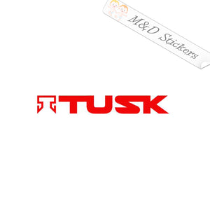 2x TUSK forklift Logo Vinyl Decal Sticker Different colors & size for Cars/Bikes/Windows