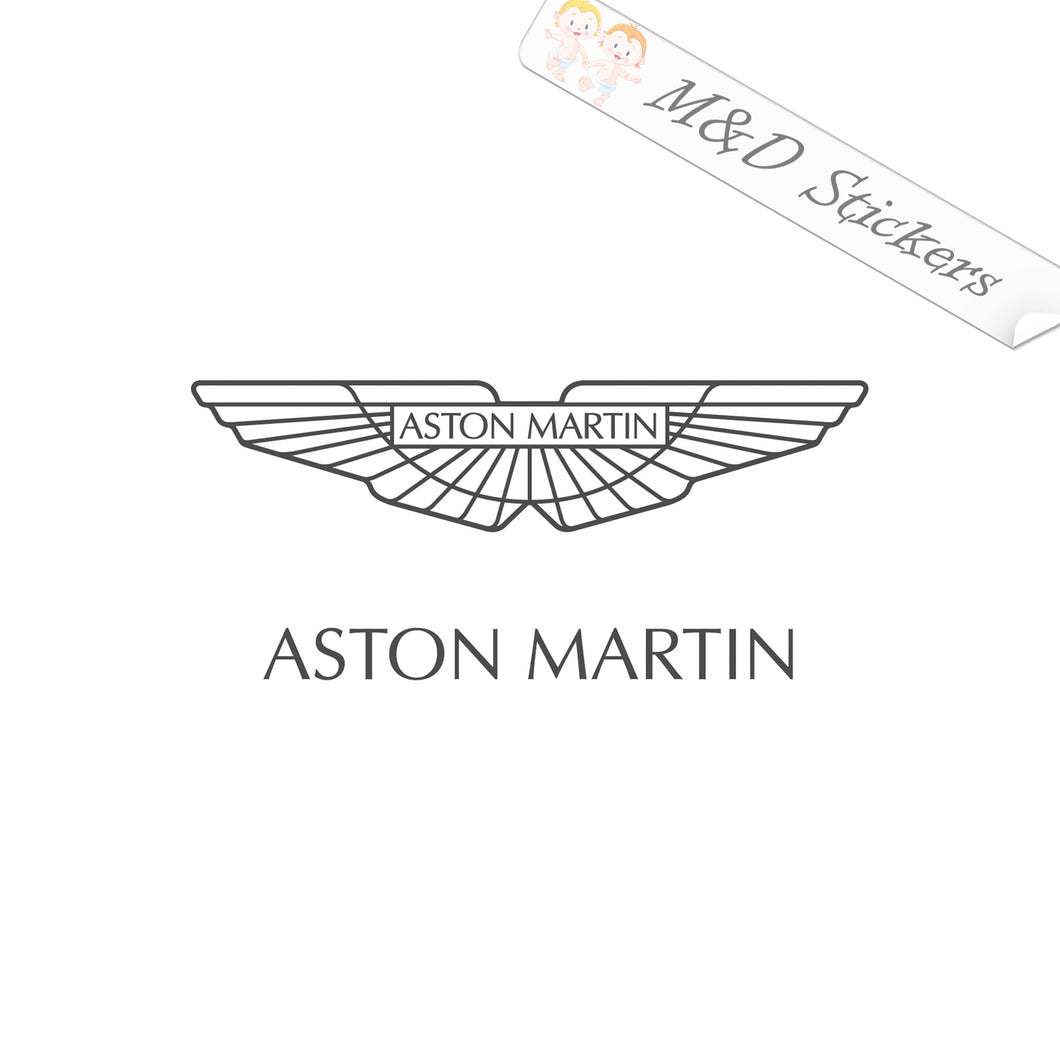 2x Aston Martin Logo Vinyl Decal Sticker Different colors & size for Cars/Bikes/Windows