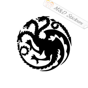 2x Targaryen house logo Vinyl Decal Sticker Different colors & size for Cars/Bikes/Windows