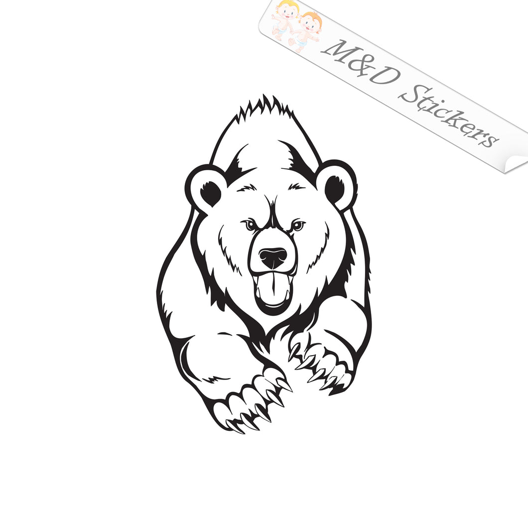 2x Polar bear Vinyl Decal Sticker Different colors & size for Cars/Bikes/Windows