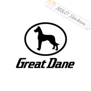 2x Great Dane Trailers Logo Decal Sticker Different colors & size for Cars/Bikes/Windows