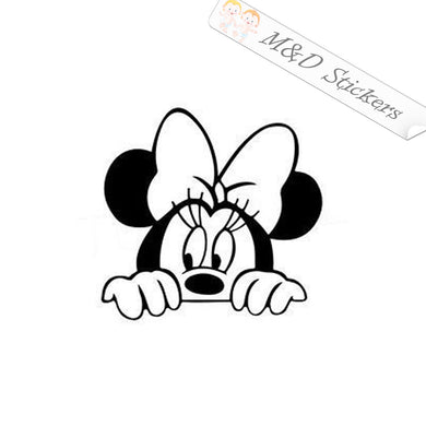 2x Peaking Minnie Mouse Vinyl Decal Sticker Different colors & size for Cars/Bikes/Windows
