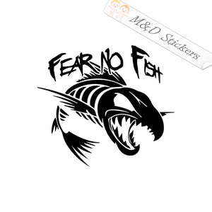 2x Fear no fish Decal Sticker Different colors & size for Cars/Bikes/Windows