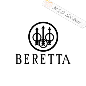 2x Beretta guns Logo Vinyl Decal Sticker Different colors & size for Cars/Bikes/Windows
