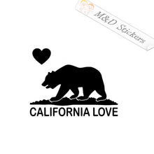 2x California Bear Love Vinyl Decal Sticker Different colors & size for Cars/Bikes/Windows