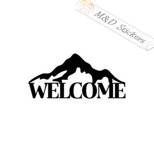 2x Welcome to Mountains Vinyl Decal Sticker Different colors & size for Cars/Bikes/Windows