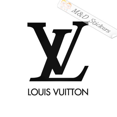 2x Louis-Vuitton Logo Vinyl Decal Sticker Different colors & size for Cars/Bikes/Windows