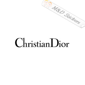 2x Christian Dior Logo Vinyl Decal Sticker Different colors & size for Cars/Bikes/Windows