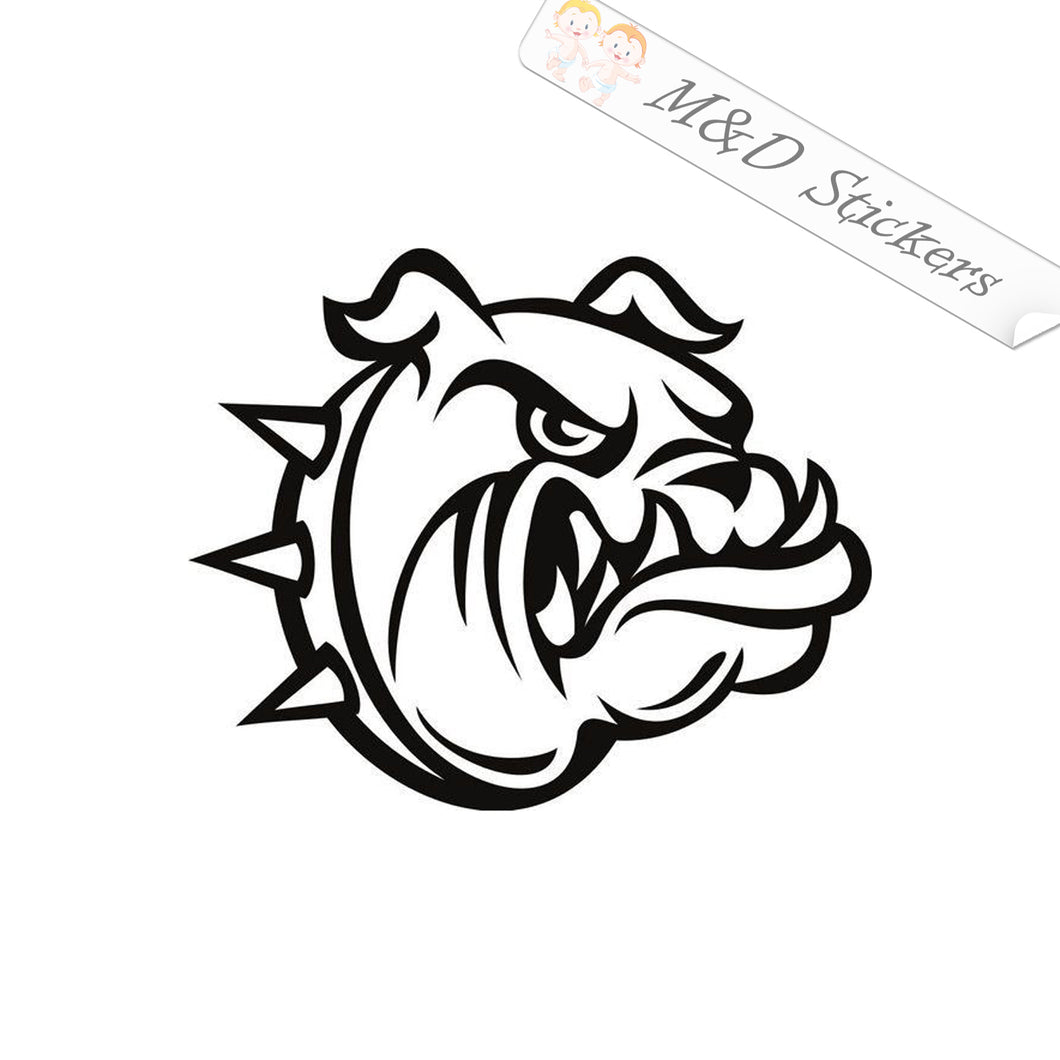 2x Angry Bulldog Dog Vinyl Decal Sticker Different colors & size for Cars/Bikes/Windows