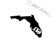 2x Florida campers Vinyl Decal Sticker Different colors & size for Cars/Bikes/Windows