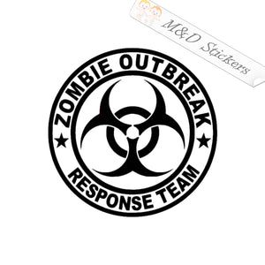 2x Zombie outbreak team Vinyl Decal Sticker Different colors & size for Cars/Bikes/Windows